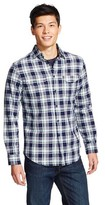Mossimo Men's Long Sleeve Button-Down Navy Plaid M