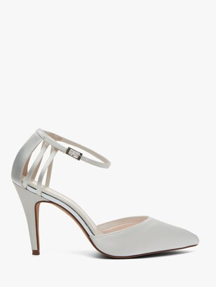 Rainbow Club Kennedy Strappy Stiletto Heel Court Shoes, Ivory