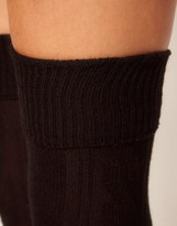 Asos Wool Cable Over The Knee Sock