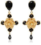 Dolce & Gabbana Cross Black Swarovski Clip-On Earrings
