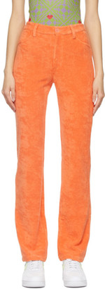 MAISIE WILEN Orange Mockumentary Trousers