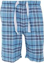 Cargo Bay Mens Plaid Pattern Flannel Pyjama Shorts
