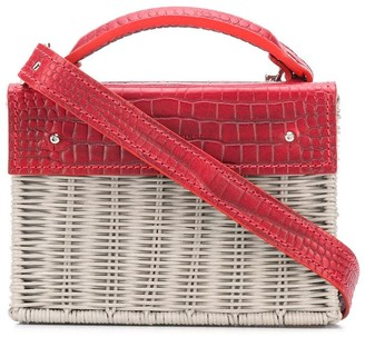Wicker Wings mini Kuai straw handbag