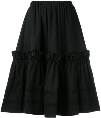 Saint Laurent Pre Owned Rive Gauche tiered skirt