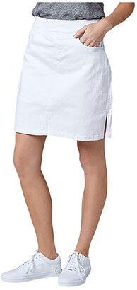 Jag Jeans On The Go Pull-On Denim Skort (White) Women's Skort