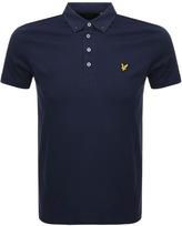 Lyle & Scott Woven Collar Polo T Shirt Navy