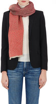 Barneys New York Women's Striped Colorblocked Cashmere Scarf-RED