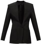 Petar Petrov Jaclyn Single-breasted V-neck Barathea Jacket - Womens - Black
