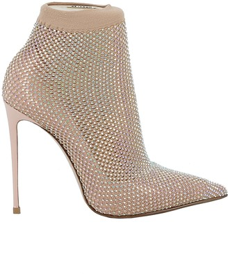 Le Silla Nude Leather Ankle Boots