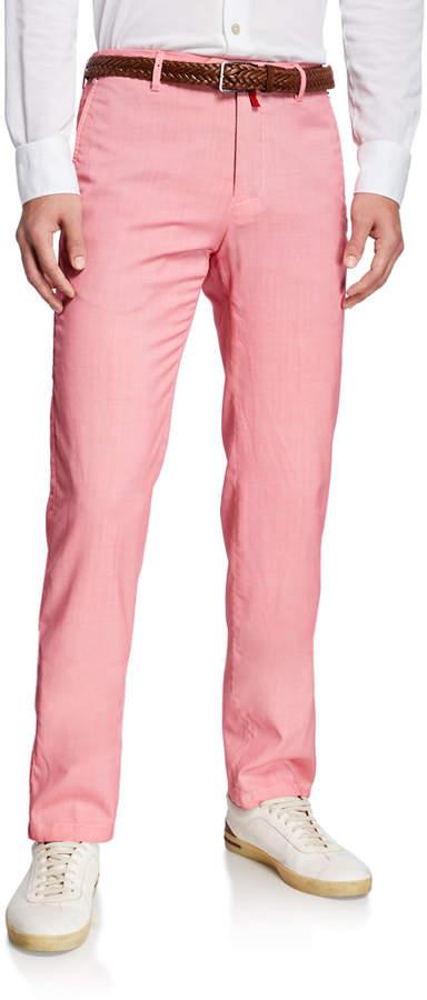 43a03fa63e308 Men's Slim-Straight Flat-Front Wool Pants