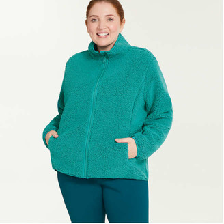 Joe Fresh Women+ Sherpa Jacket, Burgundy (Size 1X)