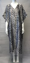 FIONALISSA Women 100% Polyester Woven Printed Soft Silky Satin Long Caftan. One Size.