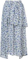 Christian Wijnants ruffle trim floral skirt