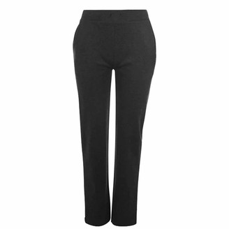 L.A. Gear Womens Open Hem Jogging Pants Drawstring Fastening (Charcoal Marl 12)