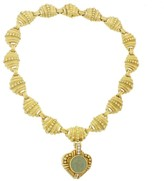 Judith Ripka 18K Yellow Gold Lava Diamond Pendant Necklace