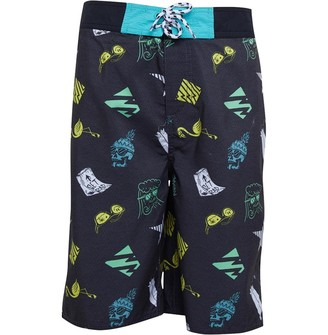 Animal Junior Boys Lino Semi-Elasticated Board Shorts Black