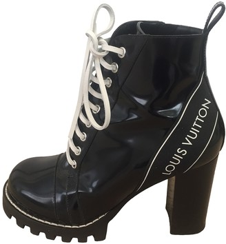 Louis Vuitton Star Trail Black Leather Ankle boots