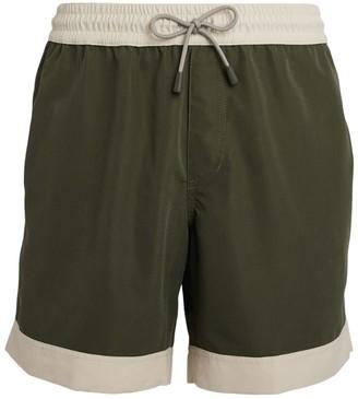 Brunello Cucinelli Contrast Swim Shorts