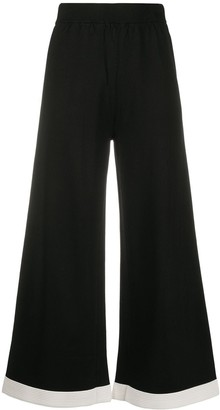 Boutique Moschino Flared Cropped Trousers