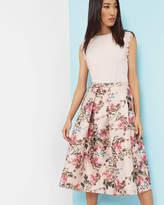 Ted Baker Blossom Jacquard midi skirt