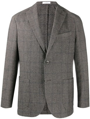Boglioli Check Single-Breasted Blazer