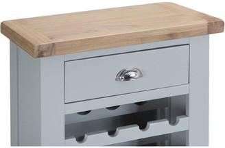 K Interiors Harrow Ready AssembledWine Cabinet - Grey/Oak
