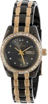 Sartego Women's SCGU64 Classic Analog Black Face Dial Two-Tone Swarovski Watch
