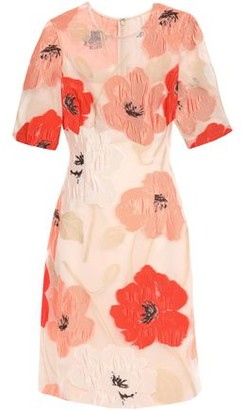 Lela Rose Fil Coupe Organza Dress