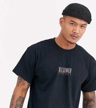 Reclaimed Vintage inspired logo t-shirt in black
