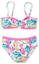 Flapdoodles Girls 4-6x) Two-Piece Seahorse Bikini