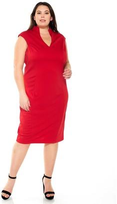 Alexia Admor Plus Size Katrina Splitneck Midi Dress