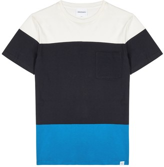 Norse Projects Niels colour-blocked cotton T-shirt