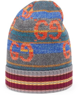 Gucci GG striped wool lame hat