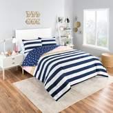 Vue Glam Stripe Reversible Comforter Set