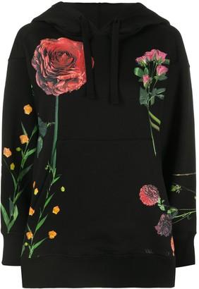 Valentino Floral-Print Hoodie