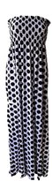 ZJ Clothes Womens Plus Size Polka Dot Print Sheering Maxi Dress XXXL
