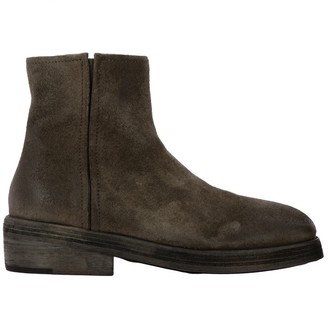 Marsèll Heeled Booties Tozzo Ankle Boots In Suede With Macro Zip