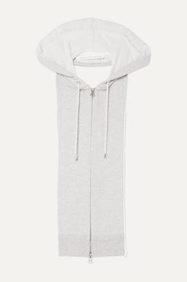 Veronica Beard Hooded Cotton-blend Dickey - Light gray