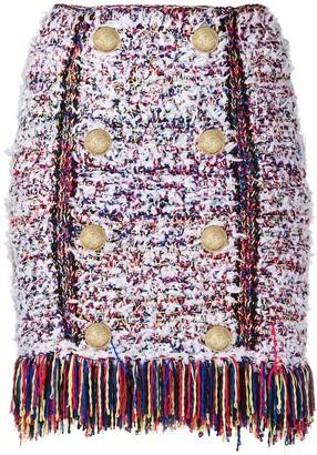 Balmain Boucle Tweed Mini Skirt