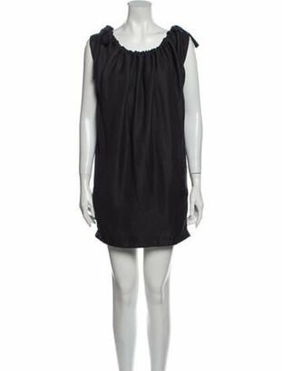 Maticevski Scoop Neck Mini Dress Grey