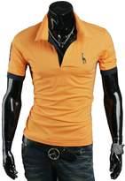 Joylive Fashion Men's Stylish Slim Fit Short Sleeve Casual Polo Shirts T-shirt