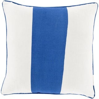 Overstock Decorative Langton 18-inch Poly or Feather Down Filled Throw Pillow