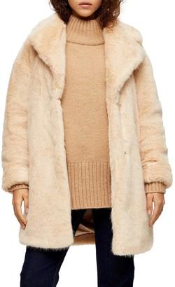 Topshop Eclipse Luxe Faux Fur Coat