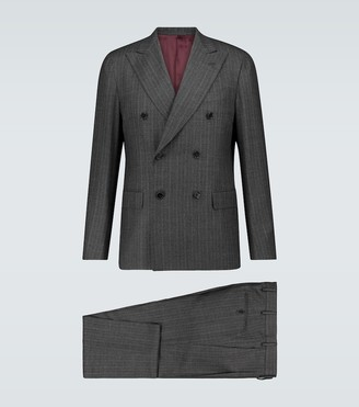 Caruso Aida pinstriped wool suit