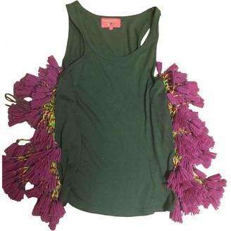 Manoush Green Cotton Top for Women