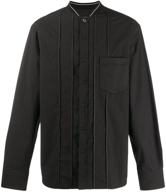 Lanvin Ribbed Neck Stitched Shirt