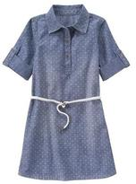 Crazy 8 Dot Chambray Dress