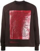 Rick Owens boxy-fit print sweatshirt