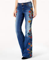 INC International Concepts Anna Sui Loves Curvy-Fit Embroidered Bootcut Jeans, Created for Macy's
