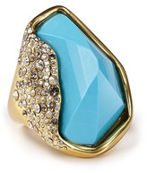 Crystal Encrusted Faux Turquoise Ring